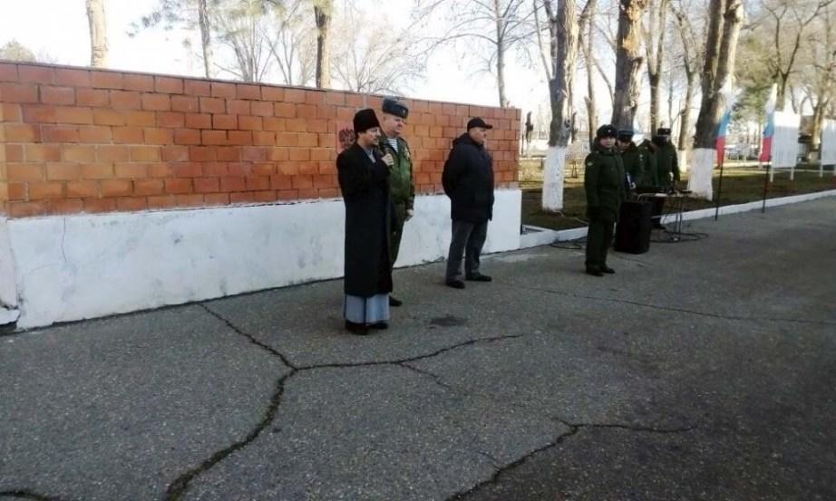 В воинской части №98548 состоялась встреча протоиерея Кассиана Кравцова посвященная принятию присяги и занятию с личным составом