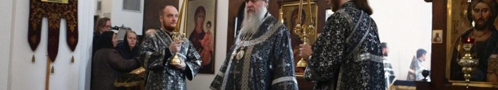 В Великий вторник Страстной седмицы епископ Стефан совершил Литургию Преждеосвященных Даров в Свято-Никольском храме станицы Кавказской