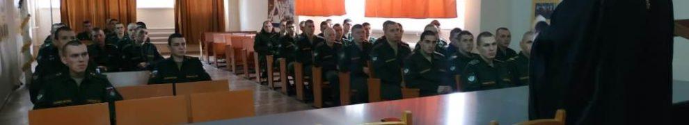 В станице Казанской состоялась Рождественская встреча священника с военнослужащими