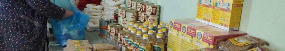 Гуманитарный склад наполнился продуктами